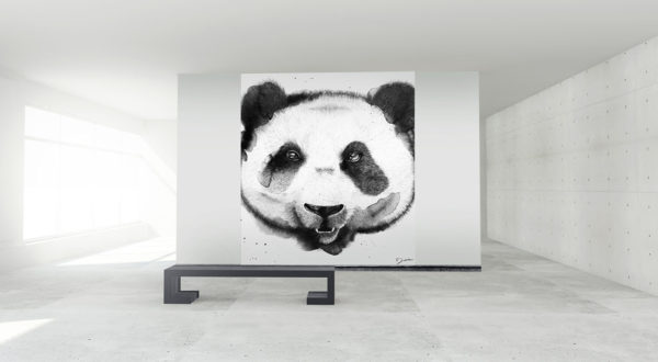 integration papier peint panda
